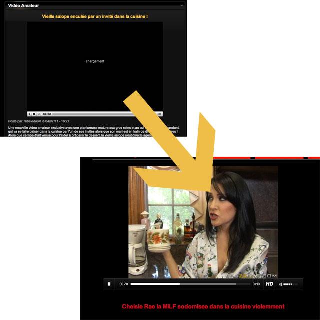 Exemple de page intermédiaire envoyant sur une video hosted d'un partenaire