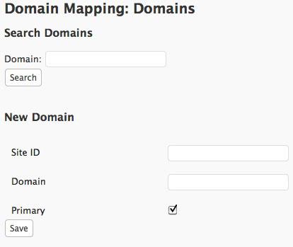 Création de domaines avec le plugin Domain Mapping